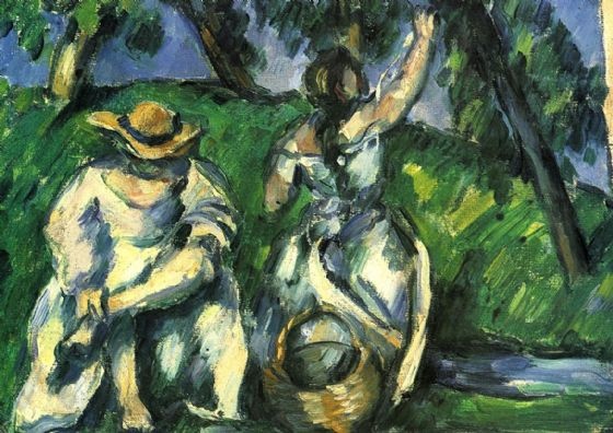 Cezanne, Paul: The Fruit Pickers. Fine Art Print/Poster. Sizes: A4/A3/A2/A1 (001023)